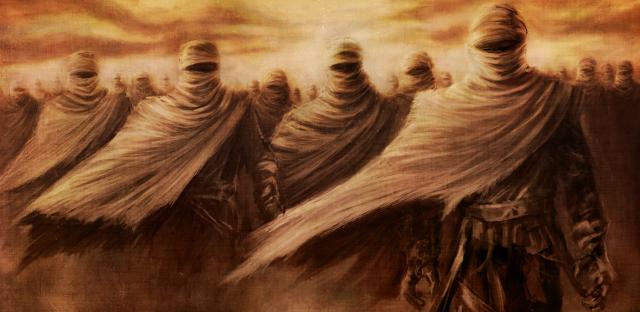 Guerreros de arena - desierto